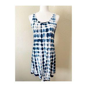 NWT Haani Tie Dye Blue Dress Sz M
